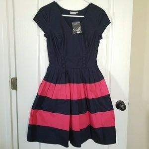 eShakti Color Block Dress SM